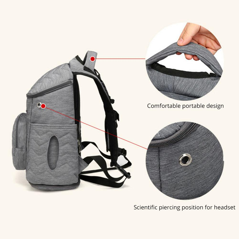 Fashion Mummy Bag Baby Care Nappy Backpack Nylon Nursing Bottle Nappy Backpack Large-capacity Multi-purpose Backpack