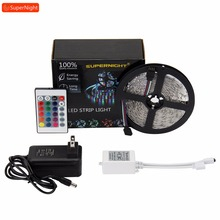 цена на 16 Colors 4 Modes LED Strip Kit 3528 SMD 5M 300LEDs DC 12V Flexible Fairy RGB LED Lamp Band with 24 Keys IR Remote Controller