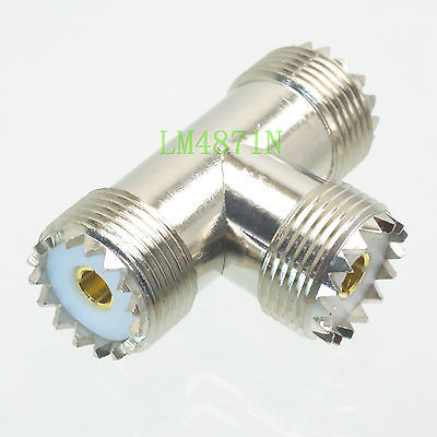1pce Adapter UHF female to 2x two SO239 female jack T Splitter RF connector 1F2F asus pce n15 300мбит с