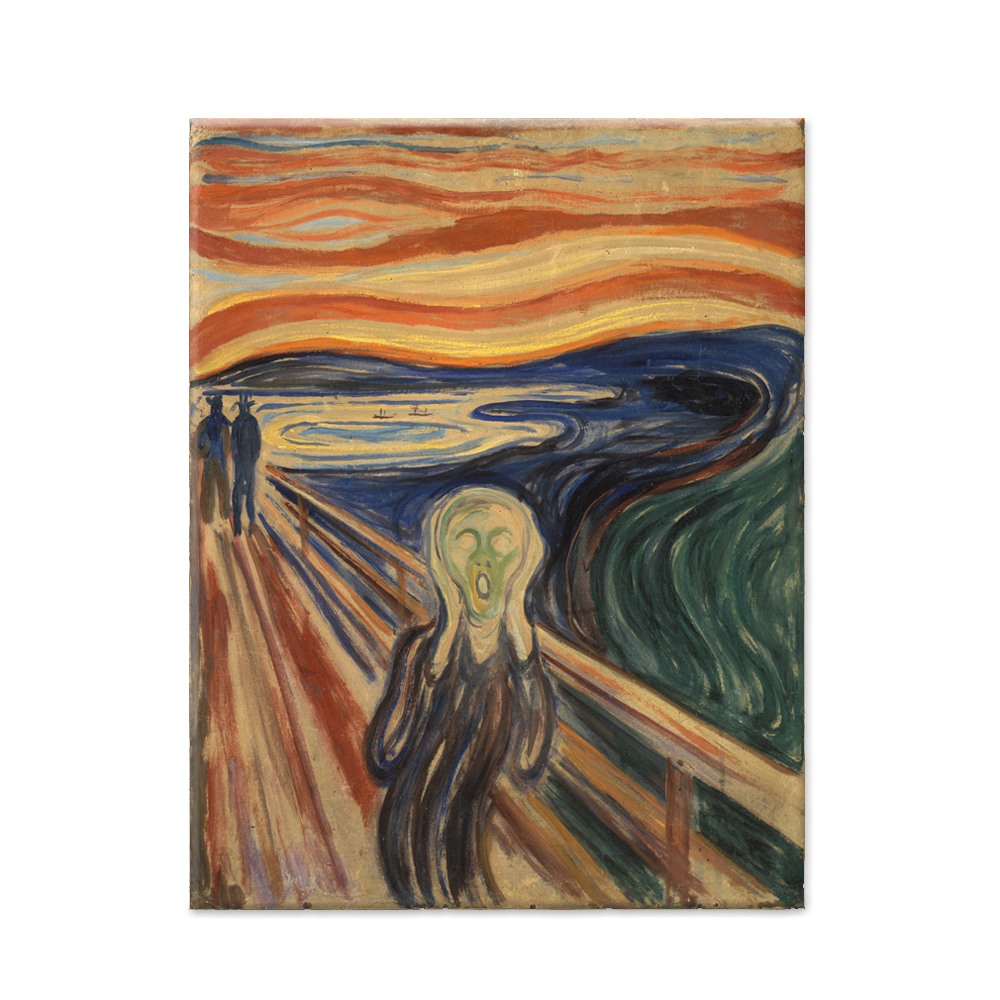 Famous Painting Canvas Picture The Scream Edvard Munch Wall Art Photo Poster