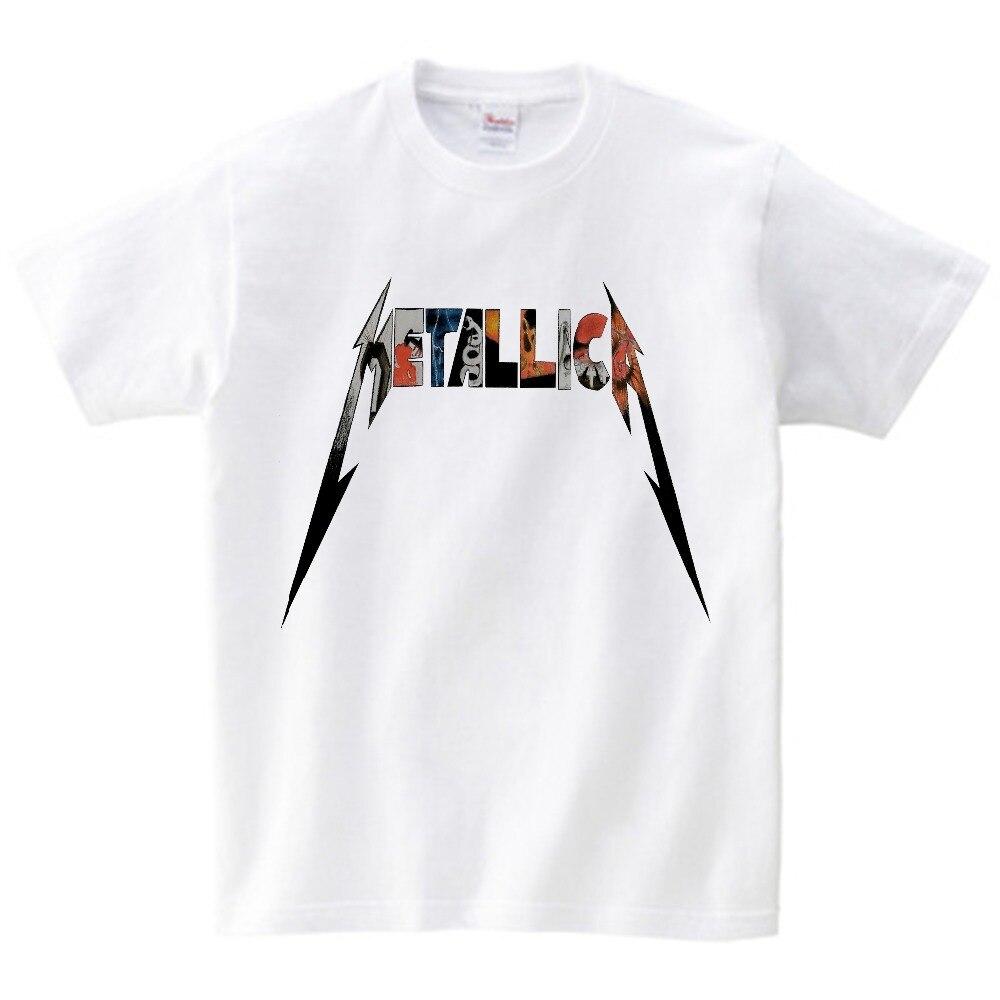 14f8693845fc1e 2018 Zomer Mode kinderen Heavy Metal Rock Metallica T-shirt jongen korte  Mouw Rock Classic