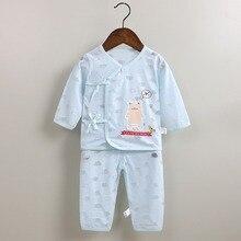 Летние новорожденная девочка бамбуковое волокно Sleeper Button o-образным вырезом унисекс комплект одежды с длинным рукавом детская одежда 0-3 м недоношенный ребенок