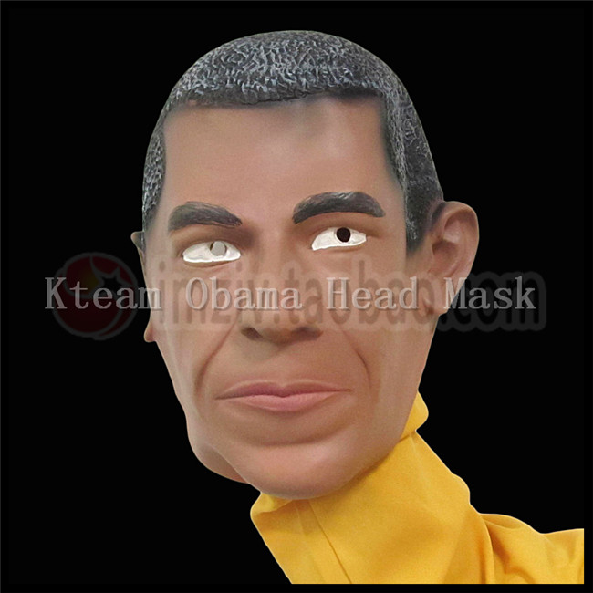 Free shipping U.S. President Barack Obama Celebrity Face Mask Latex Face Mask Obama Head Mask For Cosplay Funny Party Mask Toys
