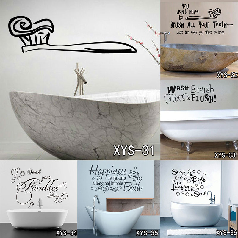 Wall Art Kitchen Stickers Bathroom Quote Vinyl Soak Relax Enjoy Bath Panel Hot Waterproof Art Vinyl