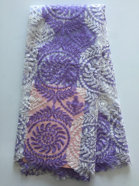 Rhinestones French African Mesh Lace Fabric With Stones In Purple Indian  Guipure Net Lace Flower Embroidered Swiss Voile Tulle 76dce9b133f1