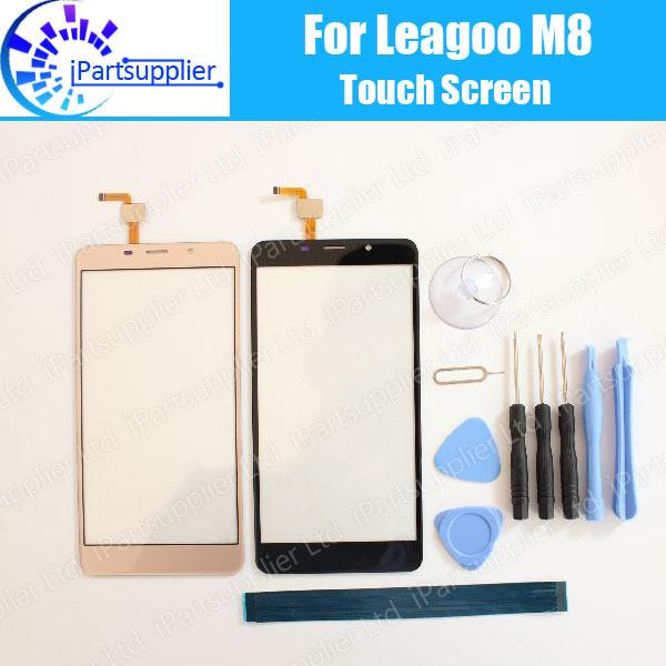 Leagoo M8 Tela de Toque Digitador Garantia 100% Original Digitador Toque Substituição Do Painel de Vidro Para Leagoo M8 + Ferramentas