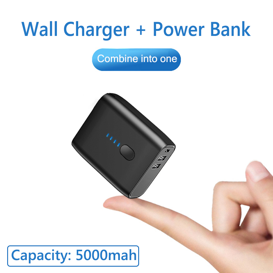 Steampunk handy copper power bank portable USB charger
