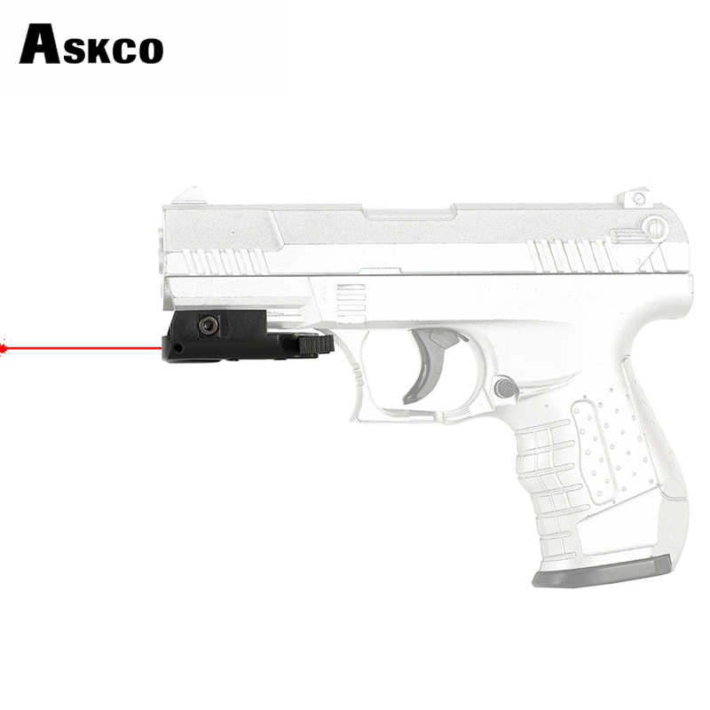 Askco Ultradunne Compact Pistol Jacht Red Dot Laser Sight Scope Laser Pointer Airsoft Low Profile 20mm Picatinny Weaver Mount