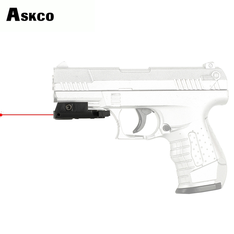 Askco Ultrathin Compact Pistol Hunting Red Dot Laser Sight Scope Laser Pointer Airsoft Low Profile 20mm Picatinny Weaver Mount image