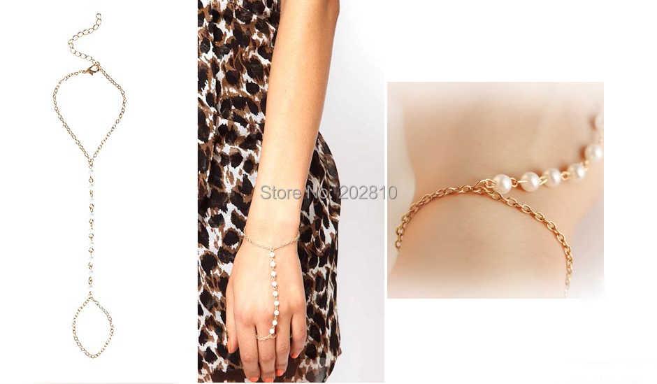 2020 חדש סגנון אופנה לרתום צמיד, עבדים שרשרת קישור אצבע כלה מסיבת חתונת צמיד עבור בסדר quanlity הנמכר ביותר