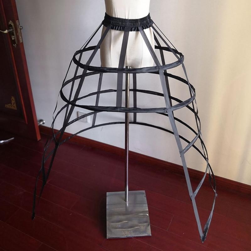 White Black Wedding Hollow Petticoats 5 Hoops For Woman Crinoline Underskirt For Ball Bridal Gown Can Can Para Vestido De Novia