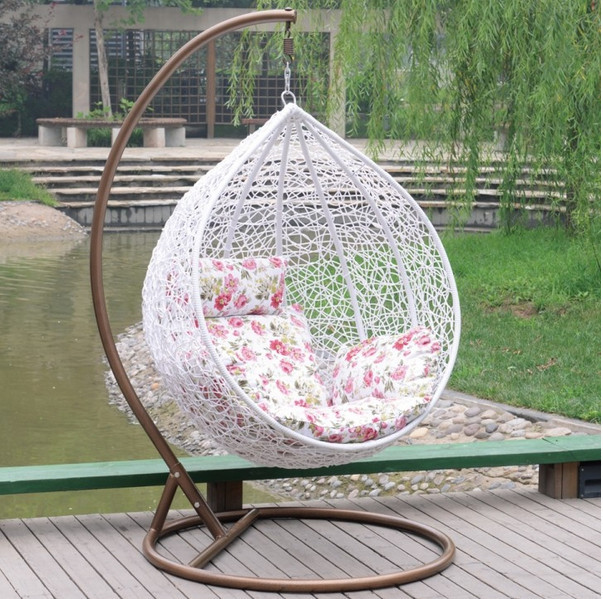 Hanging Rattan Chair How Much Is A Gaming Basket Swing Cane Chair, Outdoor Leisure Indoor Bird's Nest Lazy Sofa ...