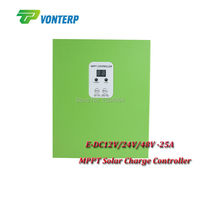 New Solar Charger Mppt Controller 25A 12V 24V 48V Automatic Recognition Work Gel Vented NiCd Etc