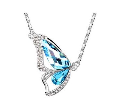 Butterfly Wing Austria crystal Necklace 6