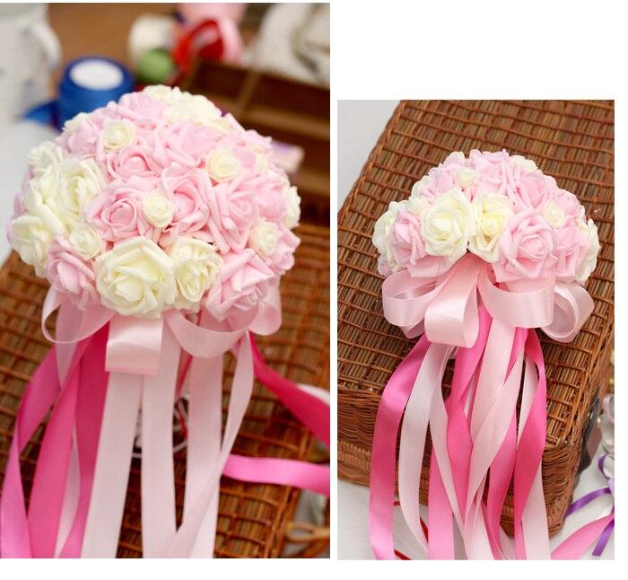 Wholesale cheap artificial wedding flower bouquet holder rose ...