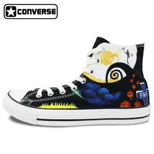 The Nightmare Before Christmas Men Women Converse Shoes Man Woman Sneakers Jack Skellington Design Custom Hand Painted Shoes