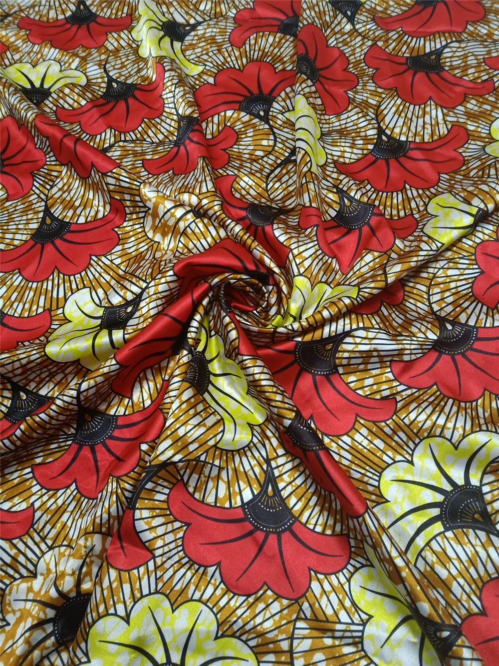 Image 5 - Milylace hot selling african digital printed wax pattern satin fabric fashionable wax pattern design satin fabric SA17049Fabric   -