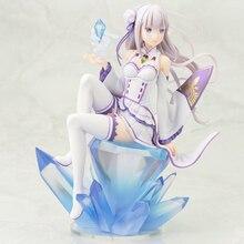 18 Cm PVC Emilia Re Zero Kara Hajimeru Isekai Seikatsu Action Figure Moe Collectible Figurines