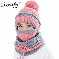2017 nieuwe Winter katoen wol Fietsen skiën hedging Verdikking hoed voor vrouwen fashion knit plus fluwelen Leisure warm Unisex HA3646