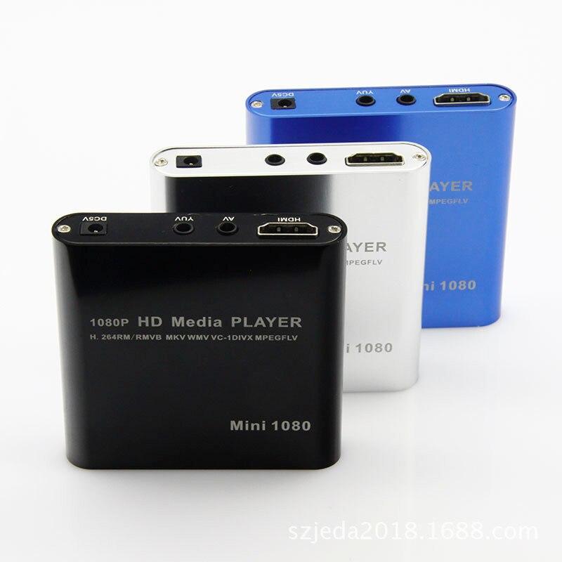 Leitor Multimédia Full HD 1080P Externo USB HDD Media Player Com HDMI SD Caixa de Mídia Suporte MKV H.264 RMVB WMV Jogador do HDD HDD21