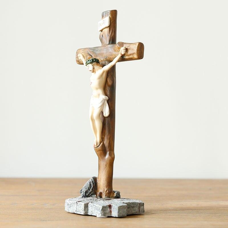 Icônes religieuses catholiques chrétiennes idole cadeaux de mariage cadeaux Christ jésus bibelot ornements croix ameublement - 3