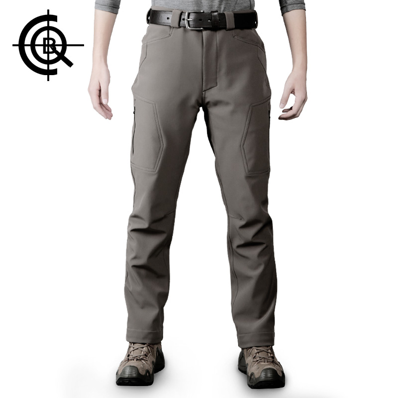 CQB Outdoor Pants Men Tactical Water Repellent Trekking Hiking Climbing Softshell Trousers Thicken Thermal Pants  LKZ0143