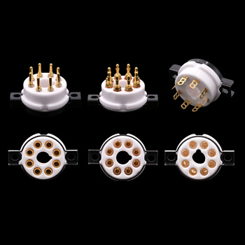 1PC 8PIN K8A TUBE SOCKET Ceramic VALVE Base EIZZ High End Sockets for EL34 KT88 5881 6V6 6L6 6CA7 Vintage Audio Amplifier DIY image