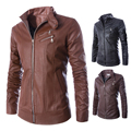 Spring Fashion Faux leather jacket men Coat Casual Men Moto Slim Fit Jacket Zipper Hot jaqueta couro Men Clothing M-XXL