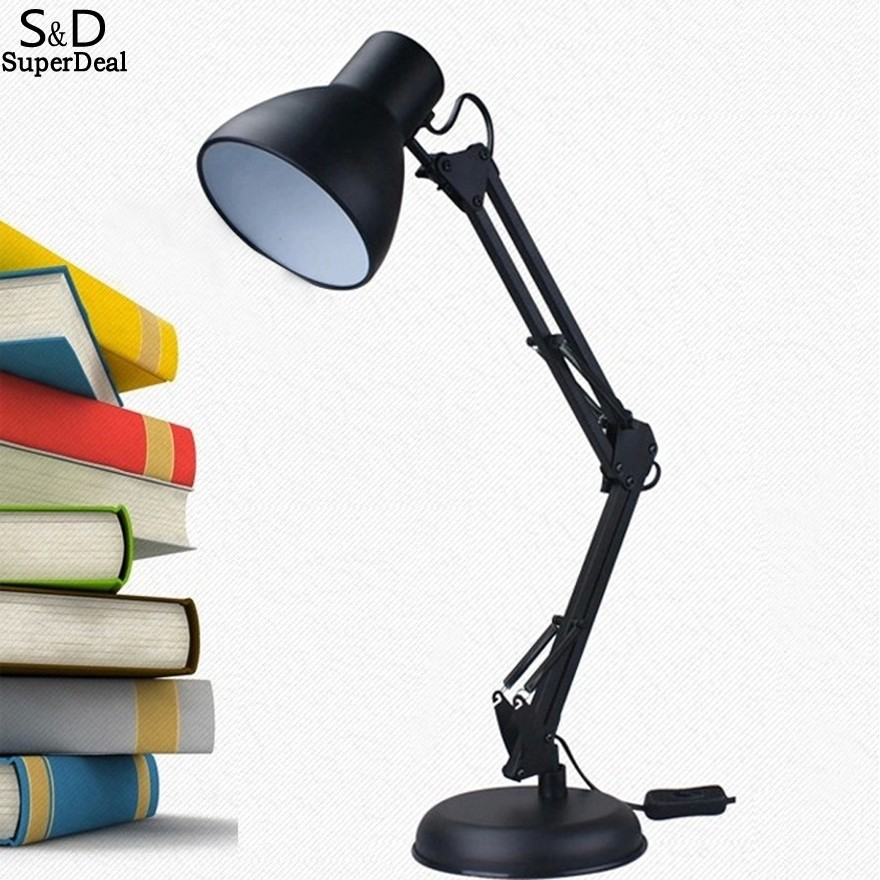 ФОТО Elifine Long Swing Arm Dimmable Desk Lamp Boston Harbor Architect Table Light Office Reading Light Home Lamp