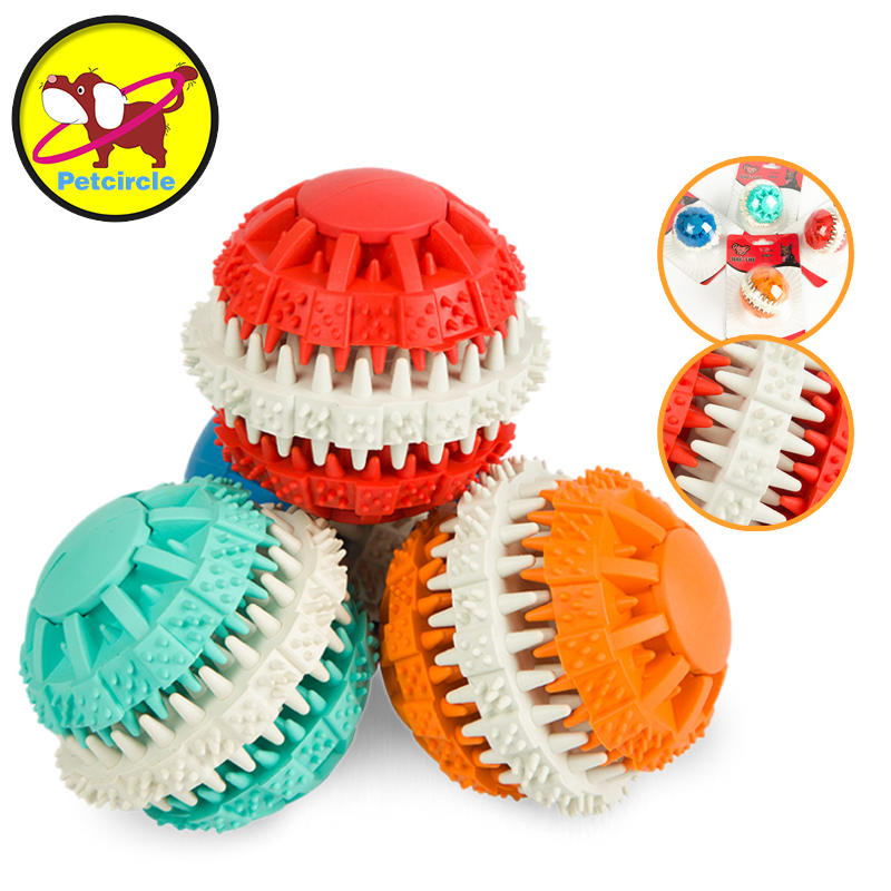 Pet Boutique Petcircle Pet Dog Toys Chew Toys For Tooth Cleaning Rubber Non-toxic Balls Color Random Diameter 7cm