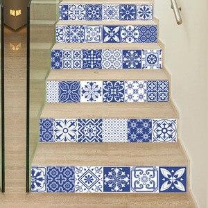 Image 3 - 中国青白磁ビニールデカールセラミックタイル階段装飾家の装飾床壁ステッカー