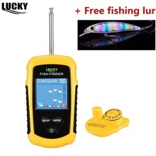 Fish Finder LUCKY Sonar Findfish Deeper Wireless 120m Wireless Fishing Alarm Marine 40M130FT deeper fishfinder Echo Sounder