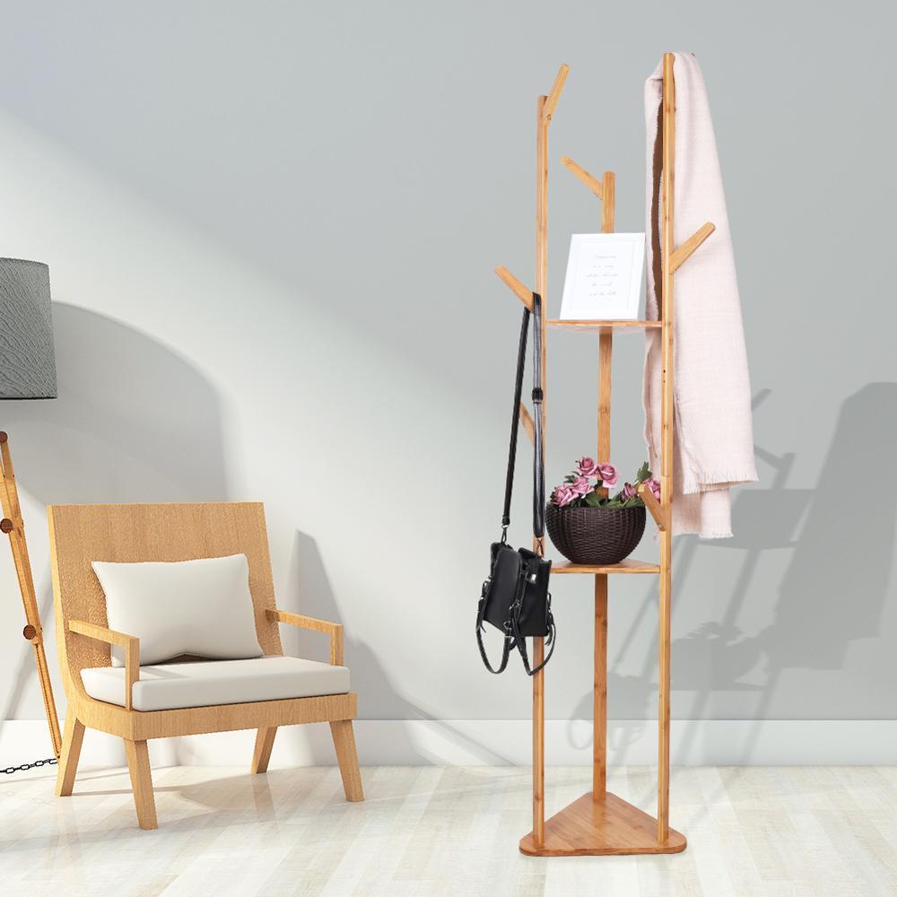 Vêtements manteau chapeau parapluie cintre support Rack avec étagères 15 kg capacité pour bonsaï panier de rangement