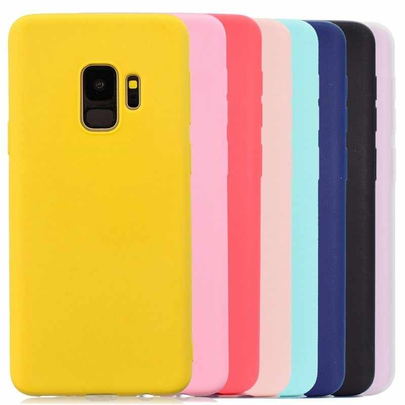 Multicolor Silicone Phone Case Cover For Samsung Galaxy S6 S7 S8 S9 Edge J3 J5 J7 J4 J6 A3 A5 A7 A6 A8 Plus 2016 2017 2018 Case
