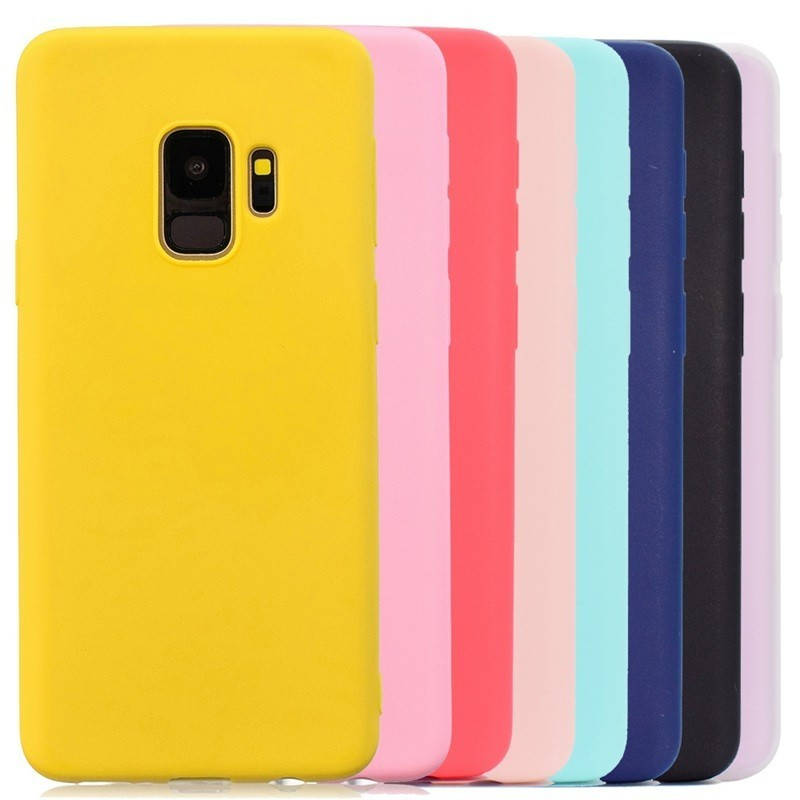 Multicolor Silikon Telefon Fall Abdeckung Für <font><b>Samsung</b></font> Galaxy S6 S7 S8 S9 Rand <font><b>J3</b></font> J5 J7 J4 J6 A3 A5 a7 A6 A8 Plus 2016 2017 <font><b>2018</b></font> Fall image