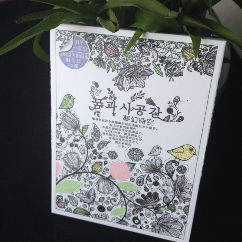 Secret Garden 32 Sheets Coloring Card Tintage Postcards DIY Painting Drawing Book Colouring Books
