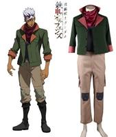 Free Shipping Mobile Suit Gundam Iron Blooded Orphans Tekkadan Iron Flower Orga Itsuka Leader Uniform Anime