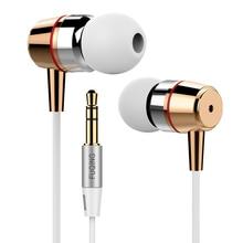 Super Bass Earphones Metal-Ear Mobile Computer MP3 Universal 3.5MM Clear Voice Amazing Sound Earphone