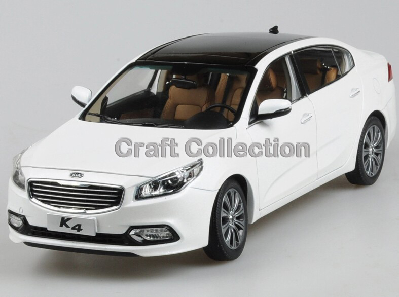 *White 1:18 KIA K4 Alloy Model Diecast Cars Toy Car Gifts Craft Kia Collection
