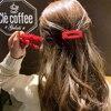 Barrette à cheveux élégante rouge au choix