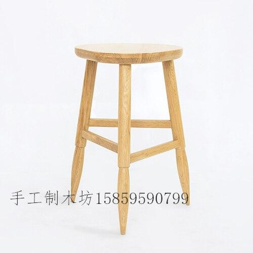 Simple y con estilo banco de madera IKEA pequeño taburete de madera ...
