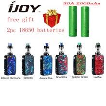 New Original IJOY Shogun Univ 180W Kit with 5.5ml Katana Sub Ohm Tank & 2pc 18650 Batteries Leak-proof E Cig Vape Kit Vs Drag 2