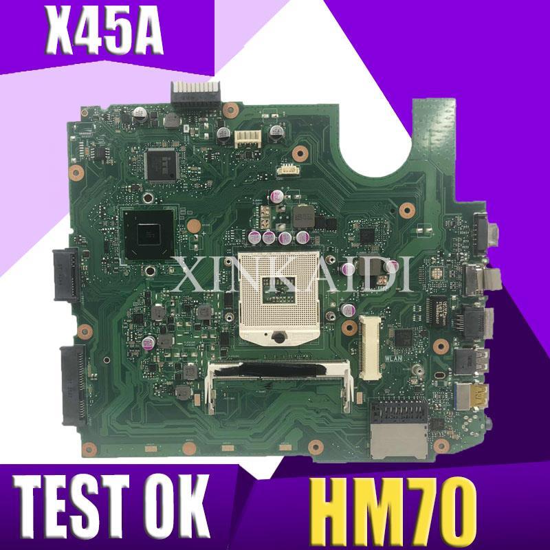 XinKaidi X45A carte mère d'ordinateur portable pour ASUS X45A Test carte mère d'origine HM70 DDR3