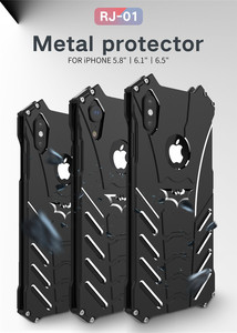 Image 5 - 耐衝撃iphone 12プロマックスミニiphone 6 6s 7 8プラス11 5 4sケース金属iphonexr xs最大の場合はケーススタンド