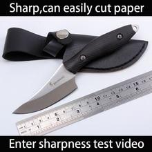 Sharp Browning Handmade hunting knife 7cr13 steel Ebony Wood handle Camping Tactical pocket knives faca militar EDC rescue tools