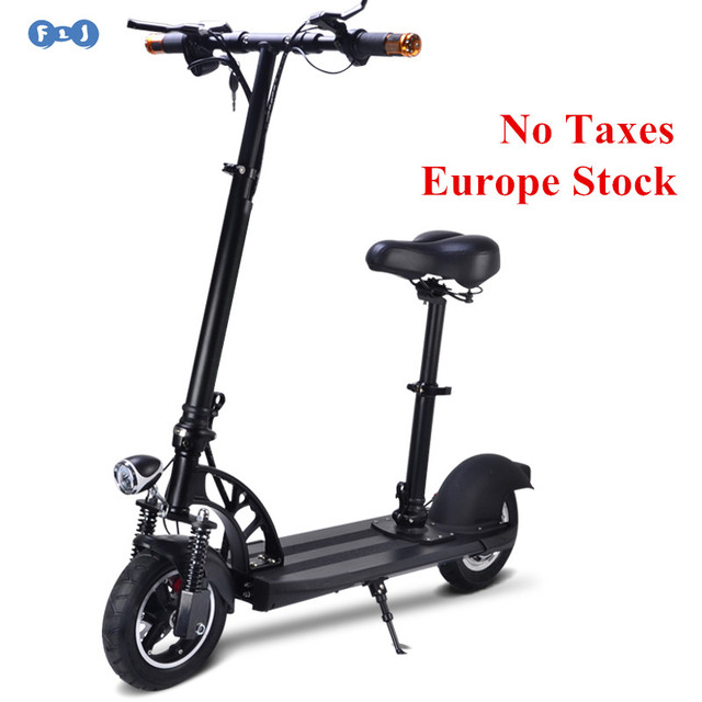Electric Scooter With Seat >> Flj Powerful Adult Electric Scooter With Seat 10inch Wheels Kick