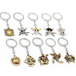 MS Jewelry Anime ONE PIECE Keychain Car Charm Key Chain Luffy Zoro Sanji Nami Key Ring Holder Chaveiro Pendant(China)