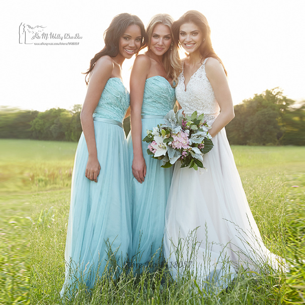 Aliexpress buy teal bridesmaid dresses for weddings 2016 aliexpress buy teal bridesmaid dresses for weddings 2016 lace wedding party dresses gowns pleated vestdio de madrinha bestidos mujer tulle from ombrellifo Images
