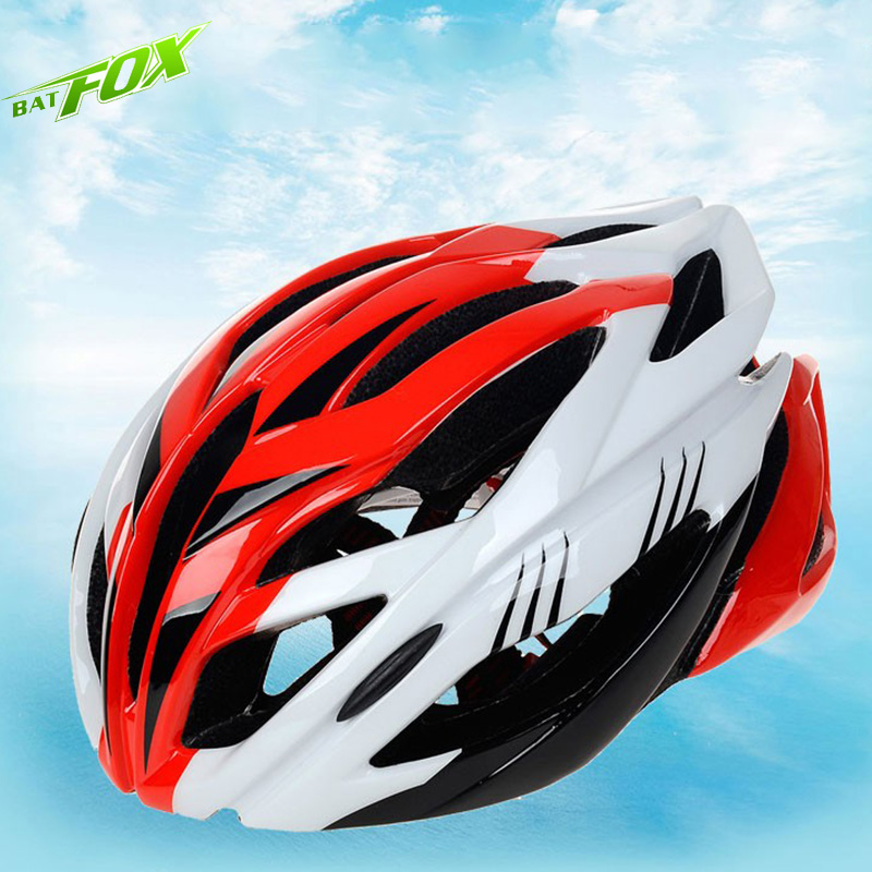 BATFOX Bicycle Helmet Integrally Molded Cycling Helmet Super Light EPS MTB Mountain Road Protector Adults Bicycle