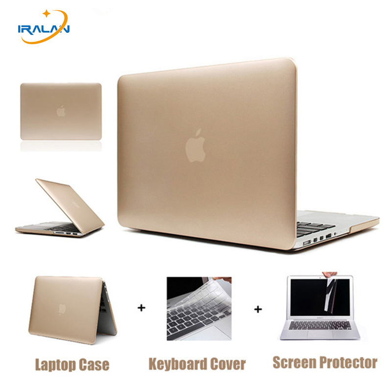 все цены на Rose Gold Matte Metal Color Laptop Hard Case for Macbook Air 13 12 11 New Macbook Pro 13 15 With Retina Display Touch Bar Cover онлайн
